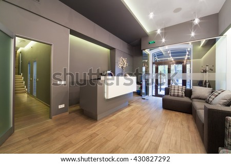 Modern Interior Design Lobby At Dental Clinic