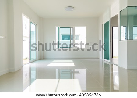Modern interior, empty room - stock photo