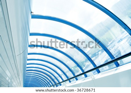 modern interior in airport - stock photo