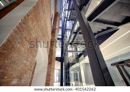 Modern interior. Modern architecture. Irkutsk - stock photo
