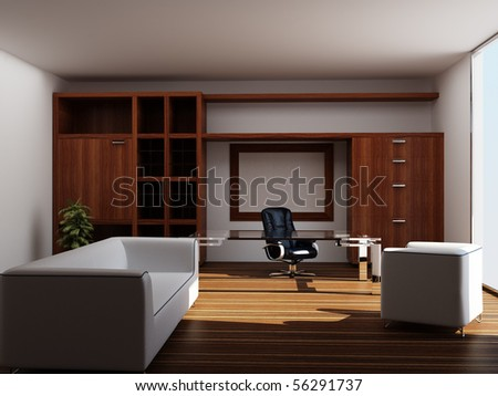 Modern interior of an office - stock photo