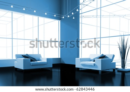 modern interior place for rest 3d image