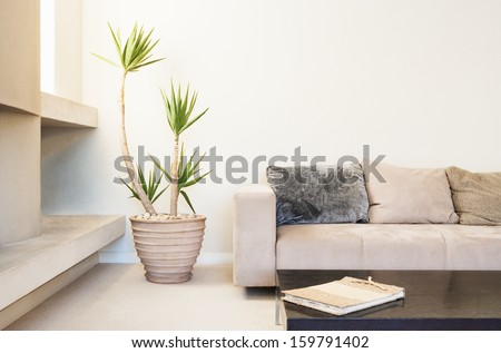 modern interior room  - stock photo