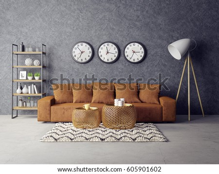 Nice Interior Furniture modern open plan white scheme beach home interior furniture Modern Interior Room With Nice Furniture 3d Illustration