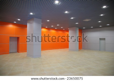 modern interior with columns - stock photo