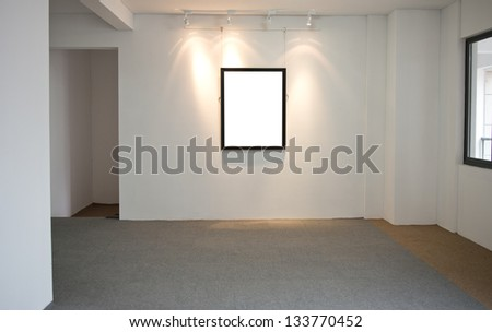 modern interior with frame on the wall.