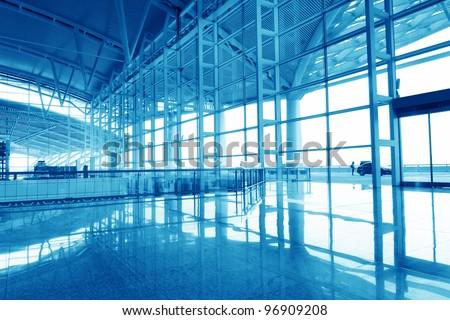 Modern international airport in China - stock photo
