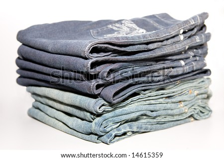 Modern jeans isolated - stock photo