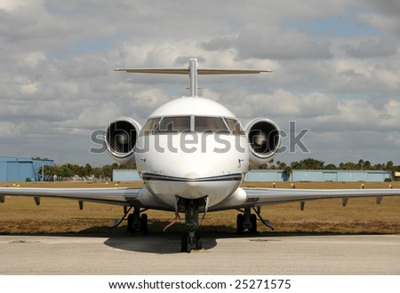 Modern jet airplane used for business charters