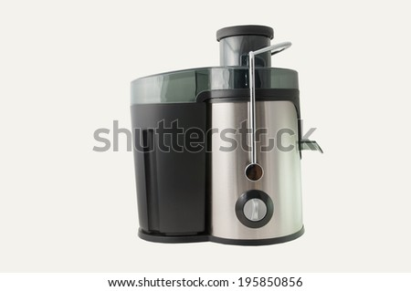 Modern juice extractor on a white background. - stock photo