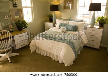Modern kids bedroom. - stock photo
