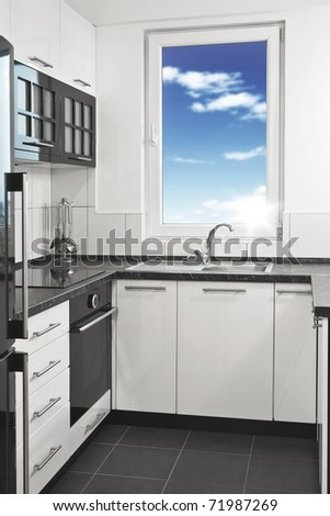 Modern Kitchen - stock photo