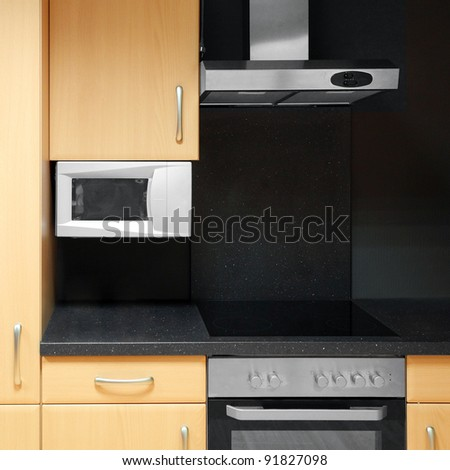 Modern kitchen, close up. - stock photo