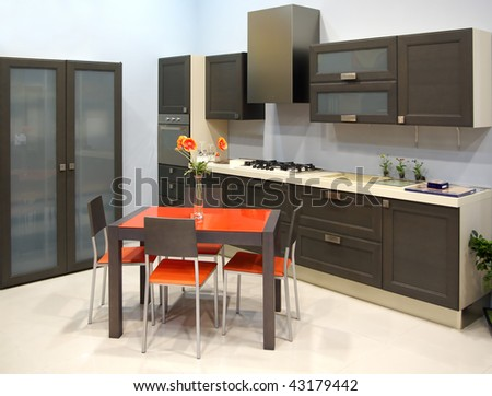 Modern kitchen. Element of design. - stock photo