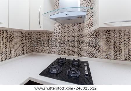 modern kitchen interior detail - stock photo