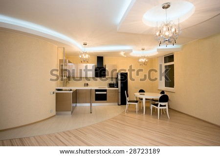 Modern kitchen interior in the new home