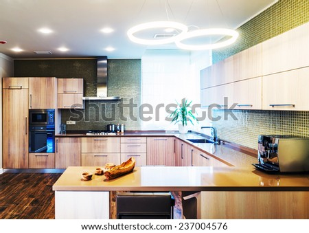 Modern kitchen interior Modern kitchen interior  - stock photo