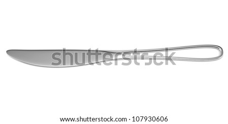 Modern kitchen knife isolated on white background