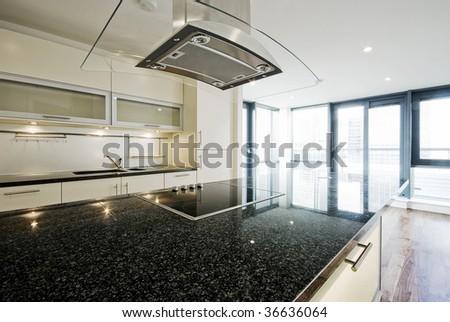 modern kitchen with highest standards - stock photo