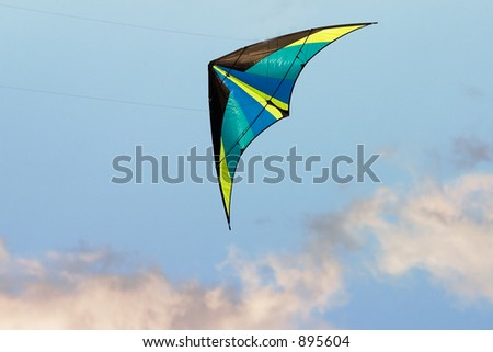 Modern kite in the air