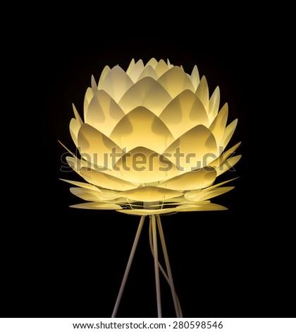 Modern lamp - stock photo