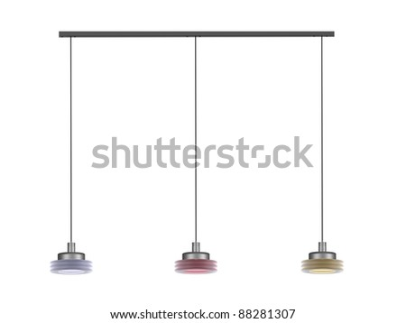 Modern lamps - stock photo