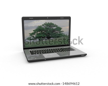 Modern laptop - stock photo