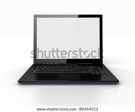 Modern laptop isolated