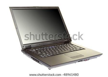 modern laptop isolated on a white background