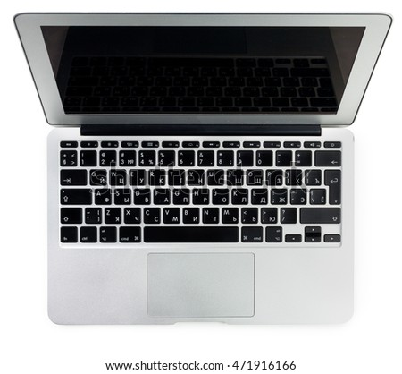 Modern laptop on a white background