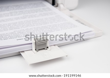 Modern Laserjet printer for home and office - stock photo