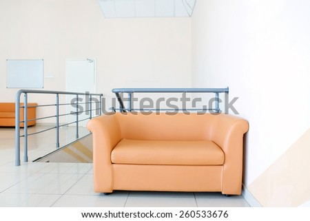 Modern leather sofa  - stock photo