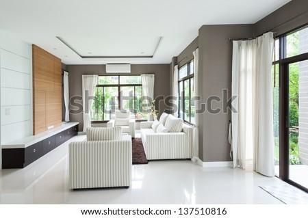 Modern living room - stock photo
