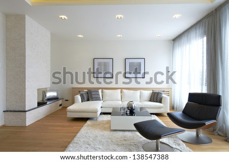 Modern Living Room Interior Stock Photo (Download Now) (Royalty Free ...