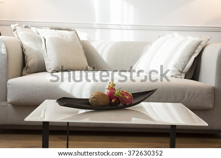 Modern living room interior in the morning,sunlight