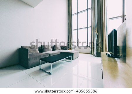 Modern living room interior- Vintage Filter