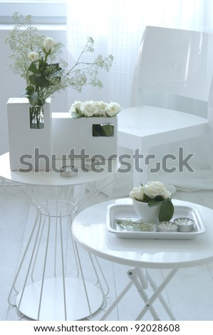 modern living-room with daylight - stock photo
