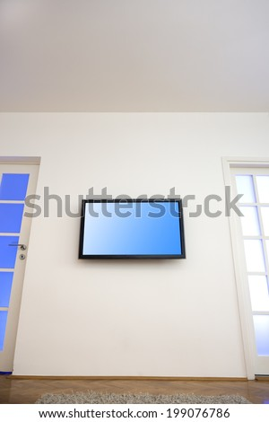 Modern living-room with TV - stock photo