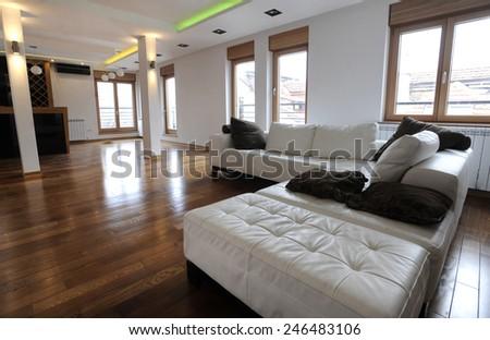 Modern living space - stock photo