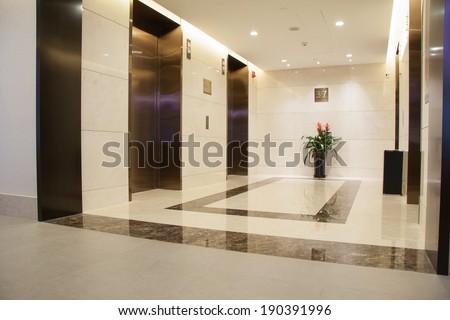 Modern lobby - stock photo