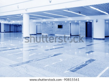 Modern lobby, modern building interiors. - stock photo