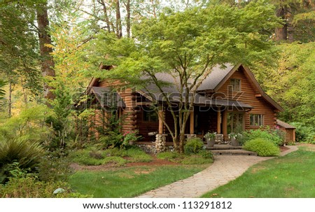 Forest cabins forest cabins for sale for Modern log cabins for sale