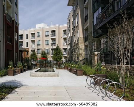 Modern Luxury apartments (condo) - stock photo