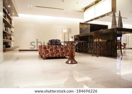 Modern & luxury lobby - stock photo