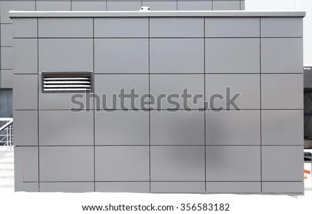 modern metal facade tiles - stock photo