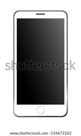 modern mobile phone - stock photo