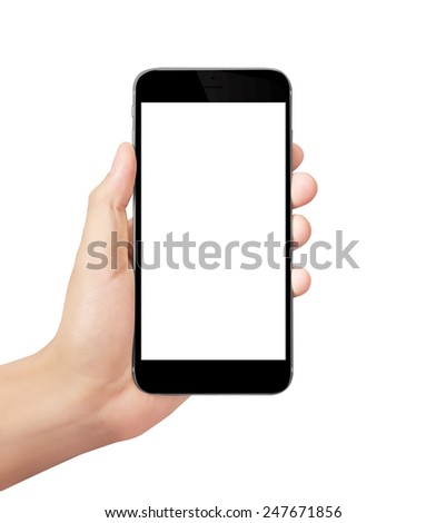 Modern mobile phone in the hand
