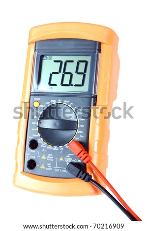 Modern multimeter with large LCD display for ageing users :-) - stock photo