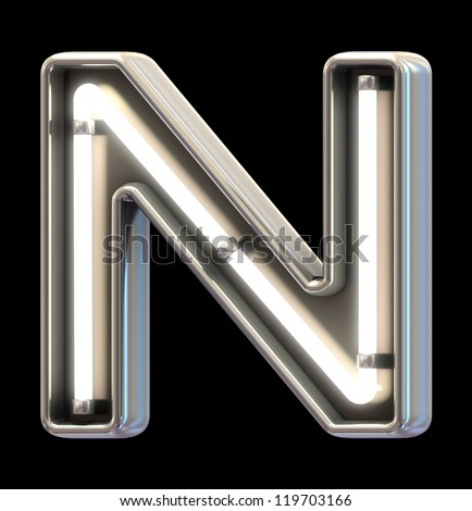 Modern neon light font - stock photo