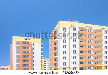 Modern, new executive apartment building  - stock photo